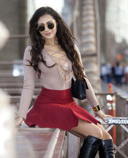 Chinese model Amna in New York, This..