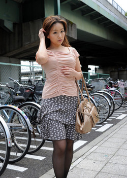 Beauty asian girl tourist undressing..