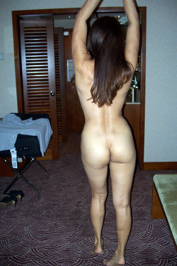 Asian wife posing without panties and..