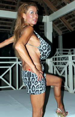 Dissolute asian mature woman shows her..