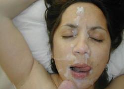 Huge sticky japanese bukkake facial