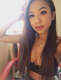 Asian beauty with good makeup, bright..